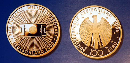 Hp Tsp 100 Euro Goldmünze Für Fussball Wm 2006